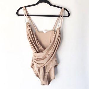 J. CREW jersey lomellina wrap one-piece swimsuit